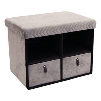 Pufa z szufladami Hiding 50cm szara kod: 5902385741309