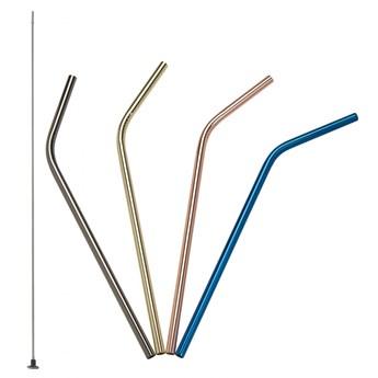 zagięte stalowe słomki do napojów, 4 szt., kolorowe, 21,5 cm kod: LU-00240992