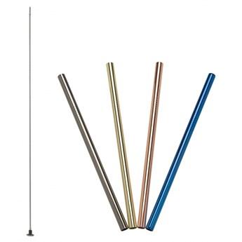 stalowe słomki do napojów, 4 szt., kolorowe, 18 cm kod: LU-00240990