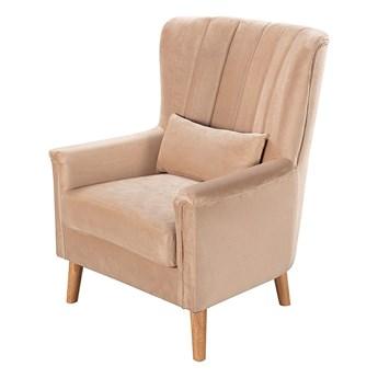 Fotel Meriva Velvet beige, 76,5 x 84 x 102 cm