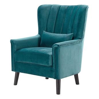 Fotel Meriva Velvet teal, 76,5 x 84 x 102 cm