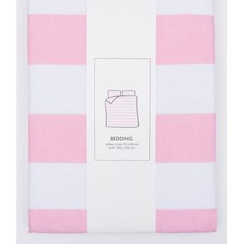 Sinsay - Komplet pościeli z bawełny 160x200 - Różowy