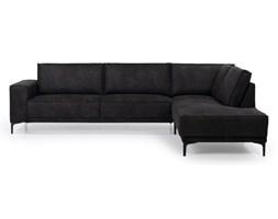 Antracytowa sofa narożna Softnord Copenhagen, prawostronna