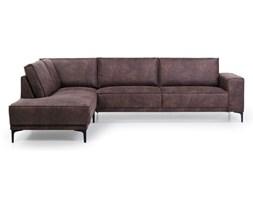 Czekoladowa sofa narożna Softnord Copenhagen, lewostronna