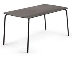 Czarny stół La Forma Tramp, 160x80 cm