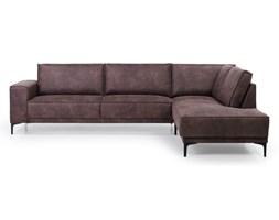 Czekoladowa sofa narożna Softnord Copenhagen, prawostronna