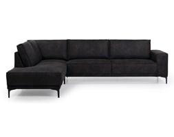 Antracytowa sofa narożna Softnord Copenhagen, lewostronna