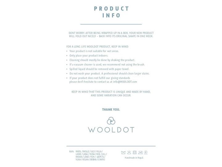Kulkowe wełniane legowisko dla zwierząt Wooldot Ball Pet Basket Multi, 40x30 cm Uniwersalna Tkanina Kolor Wielokolorowy