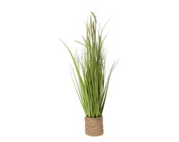 Sztuczna trawa z pałką w donicy