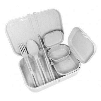 zestaw lunchbox ze sztućcami PASCAL READY ORGANIC szary KOZIOL