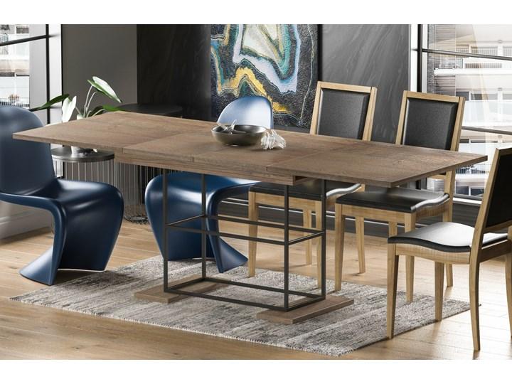 Stół Gani 210 rozkładany od 130 do 210 cm Drewno Długość 80 cm  Metal Długość 130 cm  Szerokość 80 cm Płyta MDF Pomieszczenie Stoły do jadalni