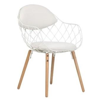 Krzesło Oslo białe/jasne nogi