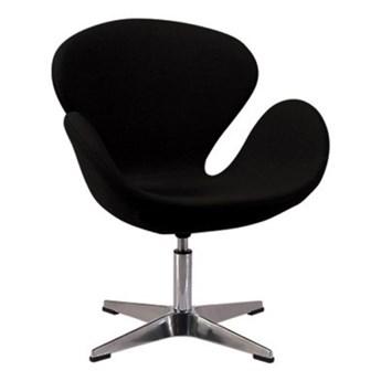Fotel Andora chrom czarny