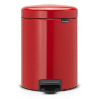 Kosz na śmieci 5L pedałowy NewIcon Brabantia czerwony kod: BR 11-20-89