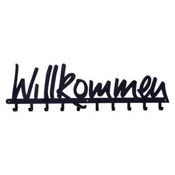 Wieszak ścienny Willkommen czarny kod: 5901034181558