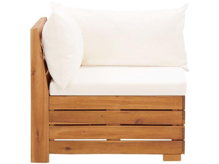 vidaXL 5-cz. zestaw mebli ogrodowych z poduszkami, akacjowy, kremowy Zestawy wypoczynkowe Drewno Kategoria Zestawy mebli ogrodowych
