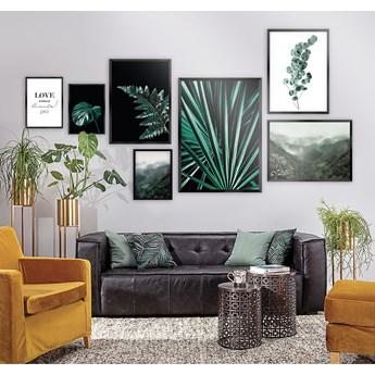 Zestaw obrazów Green Jungle 7szt., 70x100cm/ 50x70cm/30x40cm