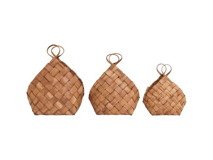 House Doctor - Zestaw trzech koszy Conical Drewno Kategoria Gazetniki Kolor Brązowy