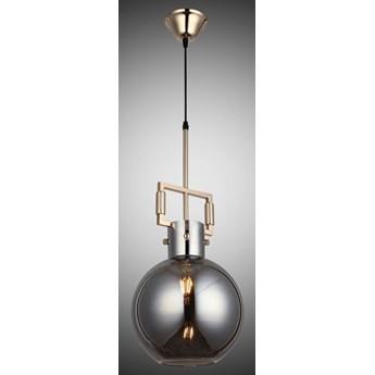 Złota nowoczesna lampa wisząca 8140-01-PA1-FG LAGOS  SALON SYPIALNIA JADALNIA LUCEA