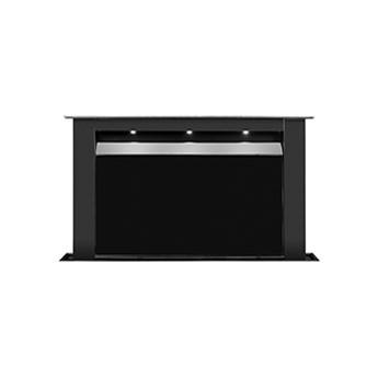 Moondraft Czarny mat/ Czarne szkło Pochłaniacz z filtrem węglowym
