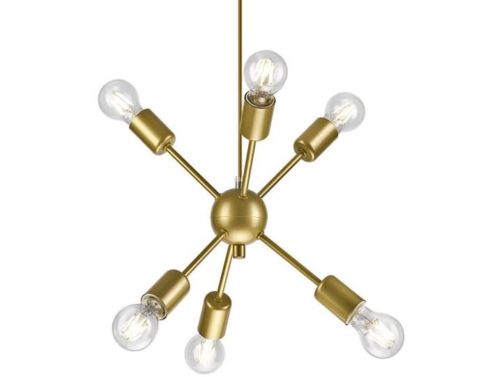 6 NOWOCZESNA ZŁOTA LAMPA WISZĄCA RUBY LOFT INDUSTRIAL