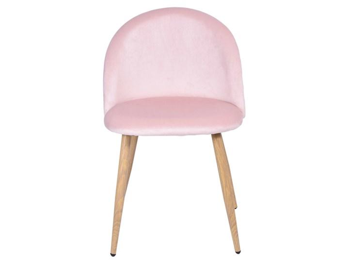 Krzesło aksamitne K-JAZZ VELVET różowe Tapicerowane Tkanina Tworzywo sztuczne Kolor Różowy Drewno Welur Wysokość 33 cm Szerokość 48 cm Szerokość 49 cm Metal Głębokość 42 cm Głębokość 48 cm Wysokość 78 cm Wysokość 79 cm Pomieszczenie Salon
