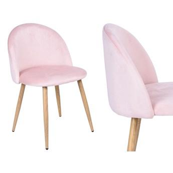 Krzesło aksamitne K-JAZZ VELVET różowe