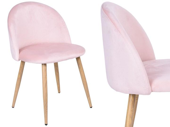 Krzesło aksamitne K-JAZZ VELVET różowe Głębokość 42 cm Wysokość 79 cm Tkanina Wysokość 78 cm Szerokość 48 cm Tapicerowane Metal Tworzywo sztuczne Wysokość 33 cm Drewno Welur Szerokość 49 cm Głębokość 48 cm Kategoria Krzesła kuchenne