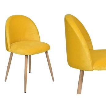 Krzesło aksamitne K-JAZZ VELVET żółte