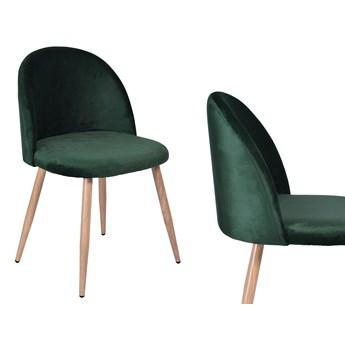 Krzesło aksamitne K-JAZZ VELVET ciemna zieleń