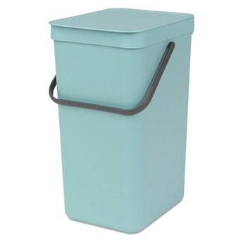 Kosz na śmieci kuchenny 16l Brabantia SortGo miętowy kod: BR 10-98-43