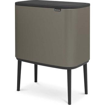 Kosz na śmieci kuchenny 3x11l Bo Touch Bin 3 komory Brabantia platynowy kod: BR 31-60-43