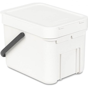 Kosz na śmieci kuchenny 6l Brabantia SortGo biały kod: BR 10-97-06
