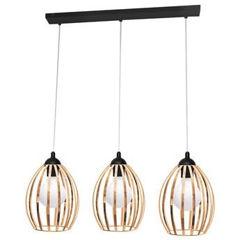 Lampa potrójna miedziana DALI W-L 1355/3 BK+BR