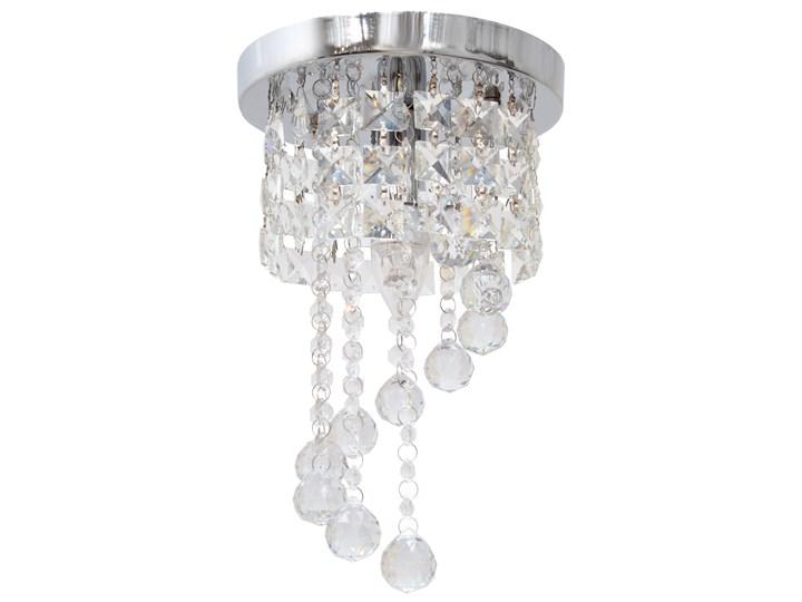 Lampa kryształowa wisząca DOLORES W-HY 1110S Lampa z kryształkami Żyrandol Metal Szkło Styl Glamour