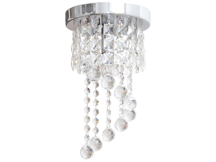 Lampa kryształowa wisząca DOLORES W-HY 1110S Metal Szkło Lampa z kryształkami Żyrandol Styl Glamour