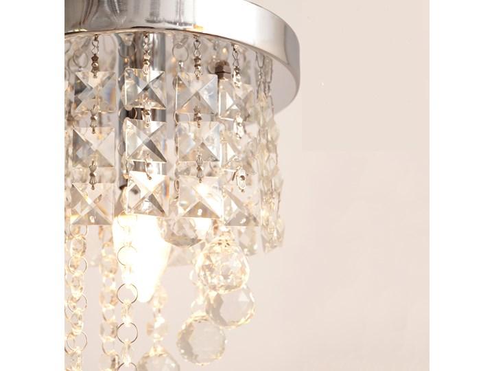 Lampa kryształowa wisząca DOLORES W-HY 1110S Metal Szkło Żyrandol Lampa z kryształkami Styl Glamour