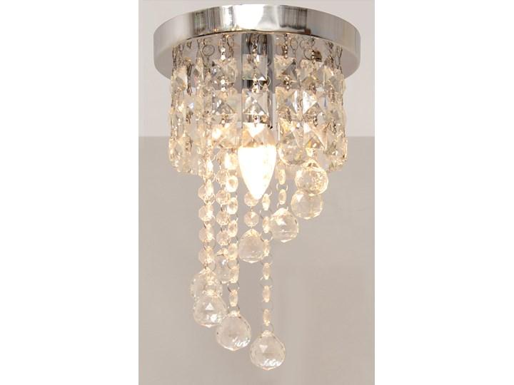 Lampa kryształowa wisząca DOLORES W-HY 1110S Szkło Metal Lampa z kryształkami Żyrandol Styl Glamour