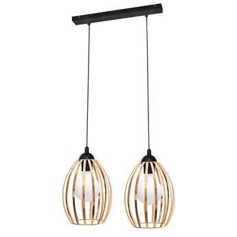 Lampa podwójna miedziana DALI W-L 1355/2 BK-B+BR