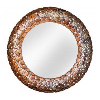 Lustro Rock Mosaic 82 cm miedź