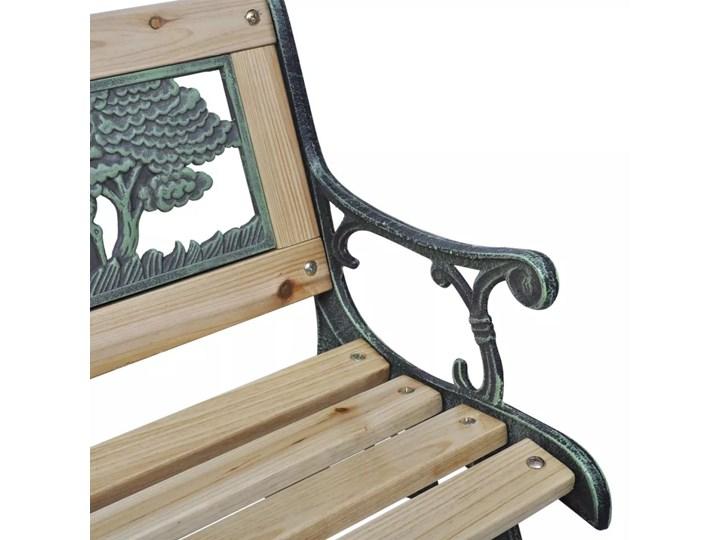 Drewniana ławka ogrodowa dla dzieci Ponter - brązowa Długość 84 cm Z oparciem Kategoria Ławki ogrodowe Drewno Kolor Brązowy