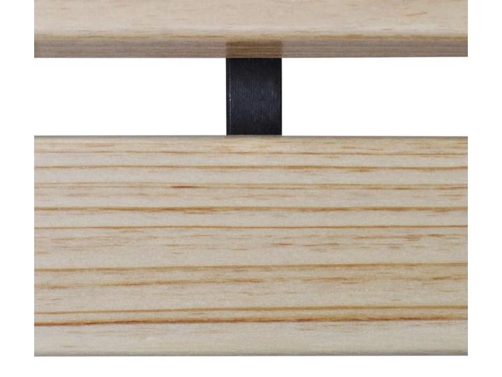 Drewniana ławka ogrodowa dla dzieci Ponter - brązowa Drewno Z oparciem Kolor Brązowy Długość 84 cm Kolor Czarny