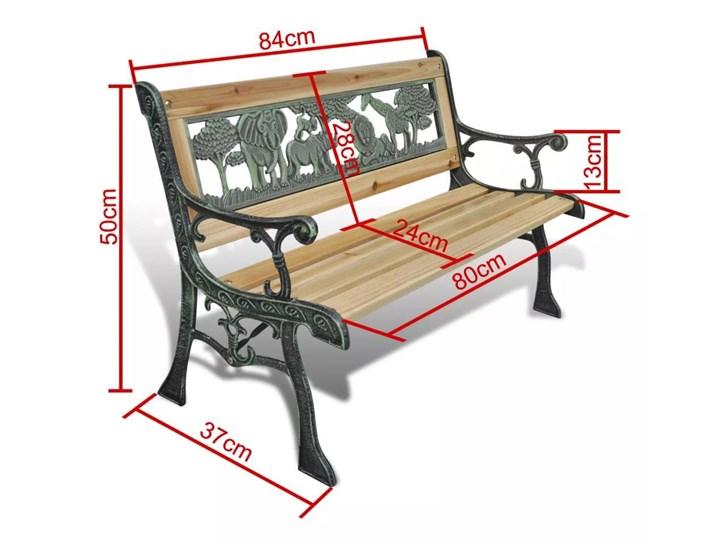 Drewniana ławka ogrodowa dla dzieci Ponter - brązowa Z oparciem Drewno Długość 84 cm Kategoria Ławki ogrodowe