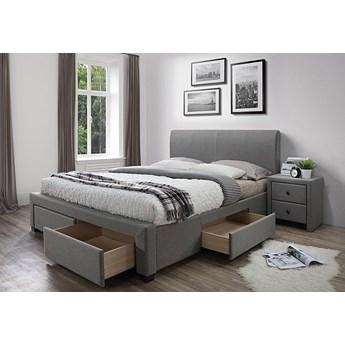 Tapicerowane łóżko Moris 3X 180x200 - popielate