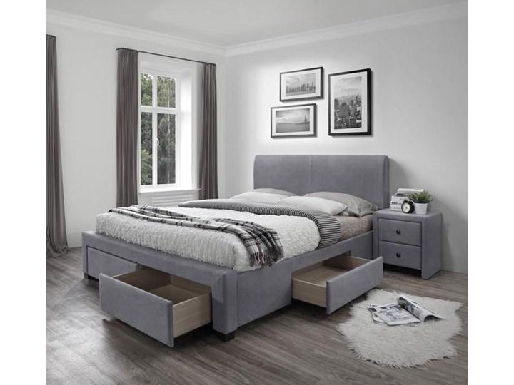 dwuosobowe łóżko z szufladami moris 4x - popielate Kolor Szary Rozmiar materaca 160x200 cm