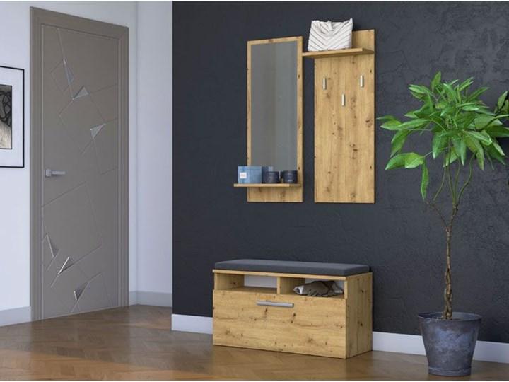 Nowoczesna garderoba Teva - dąb artisan Kategoria Zestawy mebli do sypialni Kolor Brązowy