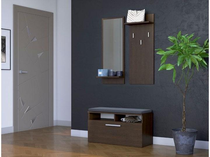 minimalistyczna garderoba teva - wenge Kolor Czarny