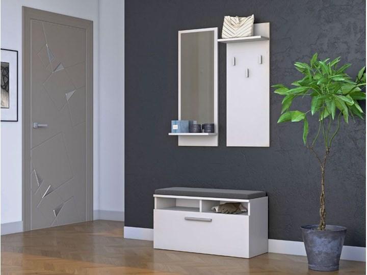 Skandynawska garderoba Teva - biel Kolor Biały Kategoria Zestawy mebli do sypialni