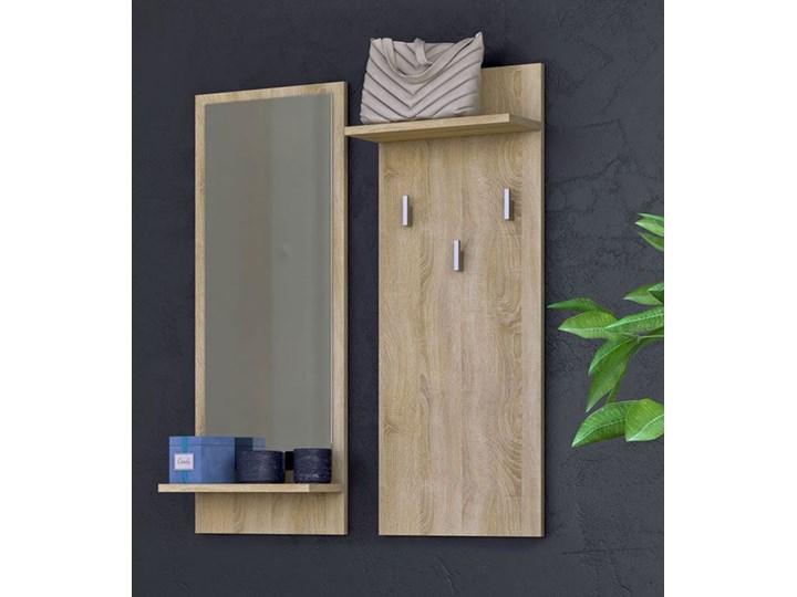 Zestaw wieszak i lustro Donel - dąb sonoma Kategoria Zestawy mebli do sypialni Kolor Beżowy