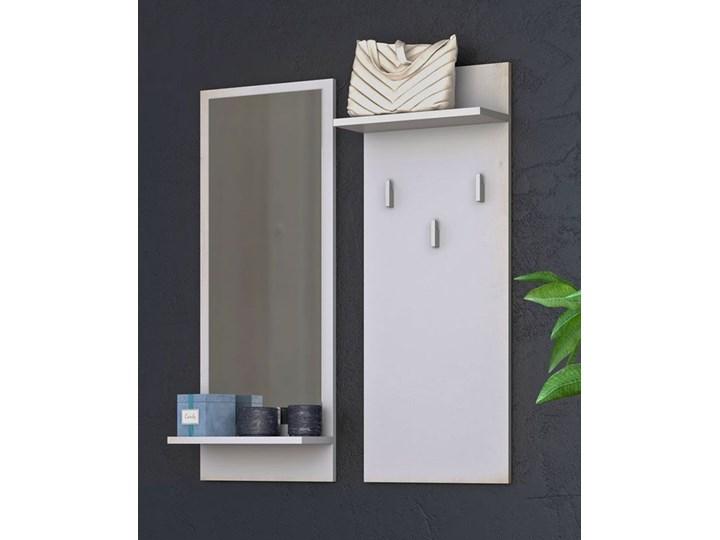 Komplet wieszak i lustro Donel - biały Kategoria Zestawy mebli do sypialni